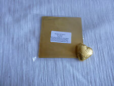 50 Square Foil Wrappers in Gold for Chocolates & Sweets. 80mm x 80mm.