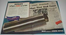Print Ad 1942 2 pg Buick GM WW ll War Effort Partiots get a bang out of this