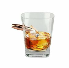 Barbuzzo Last Man Standing Bullet Whiskey Glass Clear Bar Whisky Novelty Gift