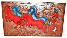 Ruscha HORSE& RIDER Fat Lava German Space Age Pop Art Psychedelic Wall Tile 70s