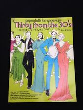 1974 Original Vintage Thirty From The 30's Paper Dolls By Tom Tierney Uncut