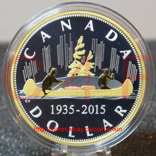 2015 Canada MC #1: Voyageur - Pure 2 oz Gold-Plated Silver Renewed Dollar Coin