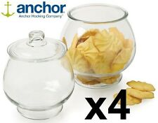 Set of 4 Anchor Hocking Large glass Cookie Storage Jars