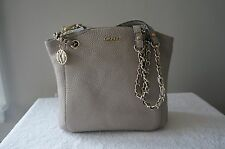 AUTH DKNY Purse Pebble Leather Tribeca Soft Tumbled Shoulder Tote Shopper Bag