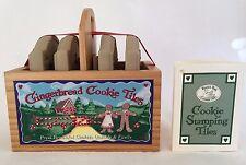Cookie Art Cookie Stamping Tiles Brown Bag 4 Gingerbread Cookie Tiles NEW