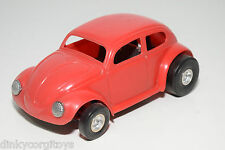 HONG KONG PLASTIC VW VOLKSWAGEN BEETLE KAFER RED EXCELLENT CONDITION