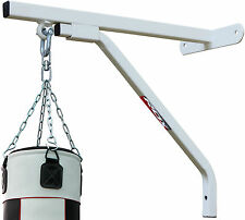 RDX Heavy Duty Punch Bag White Wall Bracket Steel Mount Hanging Stand Boxing MMA