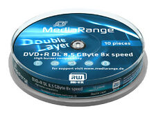 10 MediaRange DVD Rohlinge Double Layer 8.5 GB DVD+R 8x fach Dual Layer