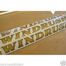 COTSWOLD Windrush - (FLAT VINYL) - Caravan Name Sticker Decal Graphic - SET OF 3