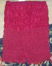 Retro maroon burgundy saloon girl Halloween costume xs s ruffle juniors shorts
