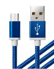 2x1.5m Heave Duty Braided Micro USB Charging Cable For Samsung Galaxy S4/5/6Edge