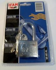 IFAM Long Shackle Marine Padlock 40mm . Salt spray tested.Blister packed.