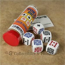NEW Poker Dice Game 5 Six Sided D6 Gambling Set RPG Koplow