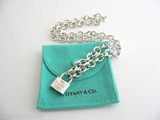 Tiffany & Co 1837 Padlock Lock Charm Necklace Pendant Chain Excellent