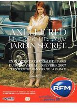 PUBLICITE  2007   RFM  radio    AXELLE RED en concert à la Cigale