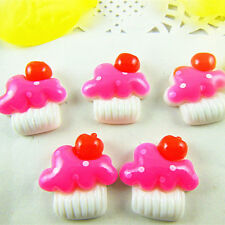 15pcs CUP CAKES Sweets Decoden Kawaii Flatback Resin Cabochons 20x21mm