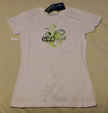 Ford Ladies Econetic White Printed Short Sleeve T Shirt Size 12 New