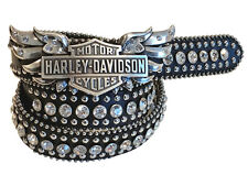 1 1/4 inches width Harley Davidson Crystal Wing with Bar-shield buckle.