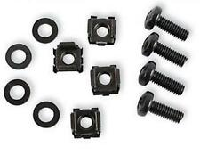 "Cage Nuts and Screws for 19"" Rack Mount Size M6 Black  !!Pack of 50!!"