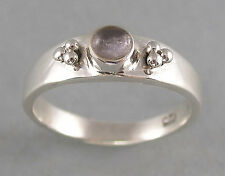 cute little sterling silver and hackmanite ring 5, 6, 7, or 8