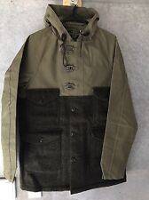 Nigel Cabourn Cameraman Jacket Harris Tweed sz 50 Large L Green Made in England