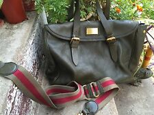 Marc Jacobs Large Green Leather Polka Dot Interior Carry Tote Business Briefcase