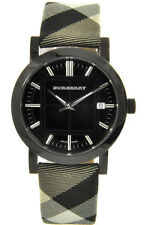 100% New BURBERRY Unisex BLACK AND WHITE CHECK WRIST WATCH BU1377
