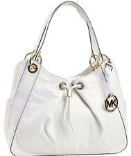 NWT MICHAEL KORS Large LUDLOW Leather Shoulder Bag/Handbag in VANILLA w/dust bag