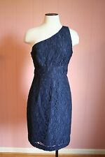 J Crew Alexa Dress in Leavers Lace 8 Navy $275 a9024 NWT