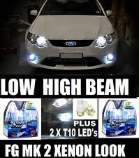 FG MK 2 (II) XR6 XR8 XENON White Look Projector Headlight Fog Bulbs 2012 2013