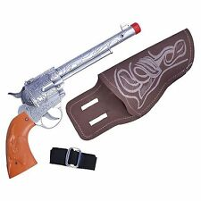 Adult Western Cowboy Fancy Dress Sheriff Wild West Toy Gun + Holster BA173
