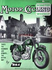 June 18 1959 B.S.A Motor Cycle ADVERT - Magazine Cover Print