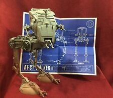 Star Wars POTF AT-ST IMPERIAL SCOUT WALKER 100% Compete & Working! w/ Blueprints