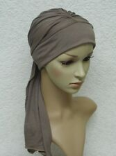 Chemo hat with ties, chemo head wear, full head coverage, alopecia, hair loss