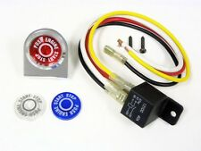 UNIVERSAL HEAVY DUTY PUSH BUTTON START IGNITION ENGINE SWITCH KIT BLUE RED 12V