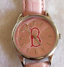 Womens Pink Brooklyn New York Silvertone Watch