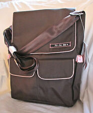 NWT JU-JU-BE BeHip DIAPER-LAPTOP-SCHOOL BAG w/CHANGING PAD - BROWN/BUBBLEGUM