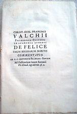 1752 'DE FELICE TRIUM REGINARUM MARITO COMMENTATIO'. VALCHII, ANTONIUM GORIUM...