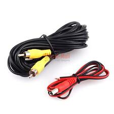 6M RCA Video Cable For Car Rear View Backup Camera Bus Truck Caravan 12V-24V