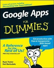Google Apps for Dummies by Karl Barksdale and Ryan Teeter (2008, Paperback)