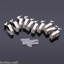 10pcs Plated Cat7 Crystals RJ45 Network Cable Connector 8P8C Head w/ Tail Clamp