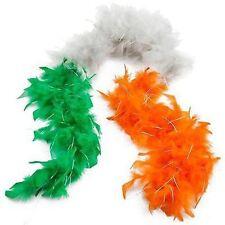 St Patricks Jour Irlandais 3 couleurs Boa Plume Guirlandes Vert Blanc Orange