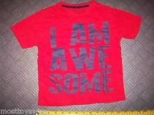 "T-Shirt REBEL for 3-4 year olds Top Quality Cotton ""I AM AWESOME"" Good Condition"