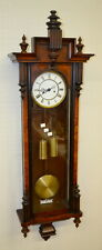 Antique Gustav Becker 2 Weight Ebonized Vienna Regulator Wall Clock:... Lot 166A