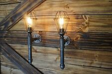 Beautiful !! Qty 2 -Edison Age Light wall Sconces, steampunk, Vintage industrial