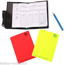 Pro Referee  Red/Yellow Cards Football Sport Wallet Notebook Pencil Soccer US