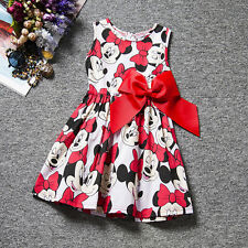 Toddler Baby Kid Girls Minnie Mouse Dress Casual Vest Skirt Princess Party Dress