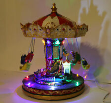 Xmas Decoration LED Musical Rotating Chairs / Swing Carousel / Merry go round
