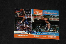 KENNY WALKER 2012 PANINI SLAM DUNK CHAMPION SIGNED AUTOGRAPHED CARD #4 KNICKS