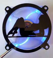 Custom 80mm SEXY GIRL Computer Fan Grill Gloss Black Acrylic Cooling Cover Mod